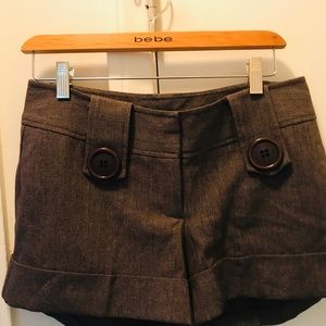 Arden B button slack style shorts